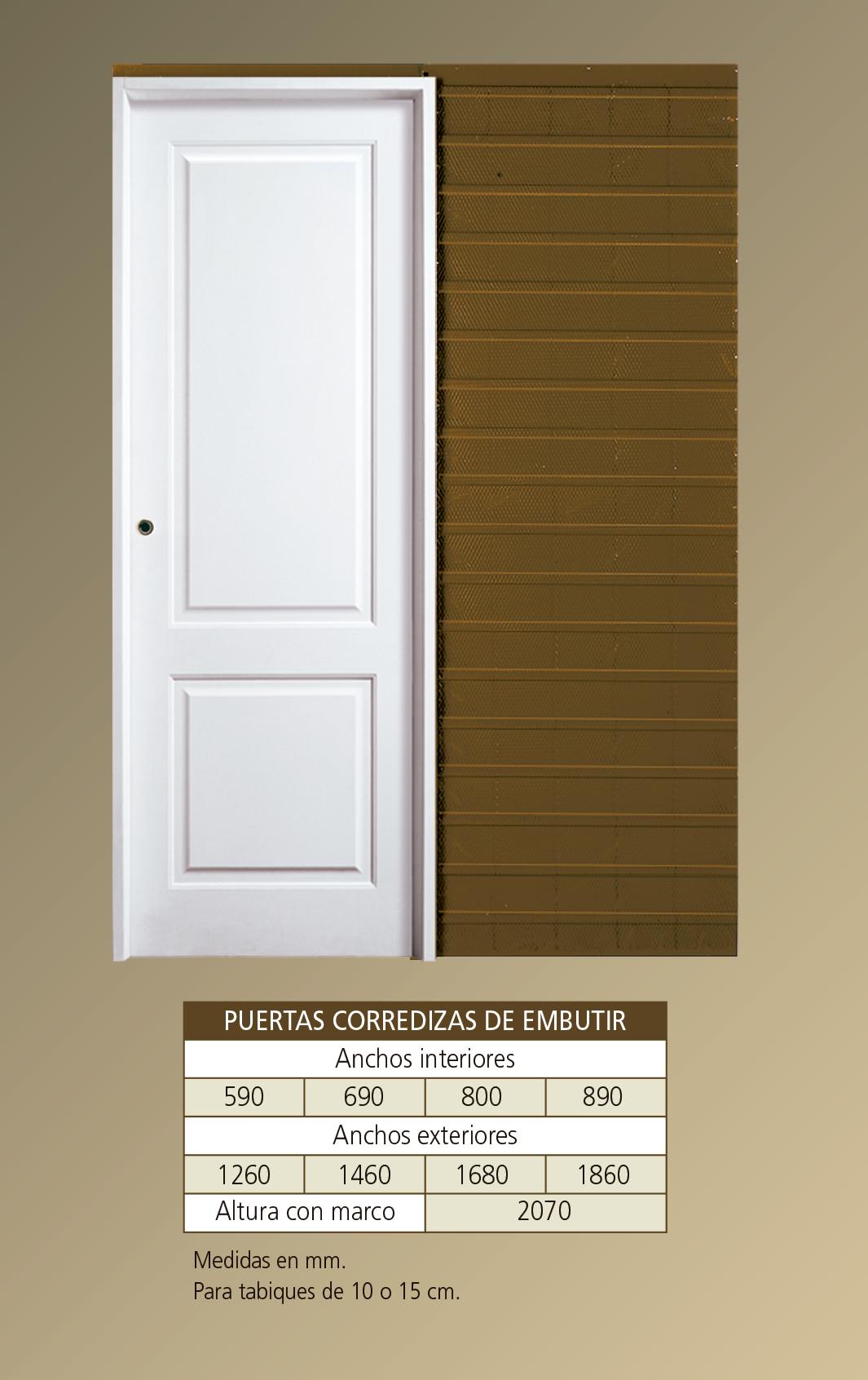 Medidas de puertas de interior fabulous camerino vela con - Medidas puertas interiores ...